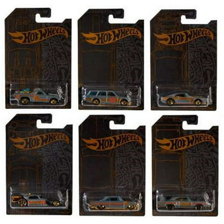 2019 Hot Wheels 51st Anniversary Satin & Chrome Series Complete Set of 6 Diecast (Best American Cars 2019)