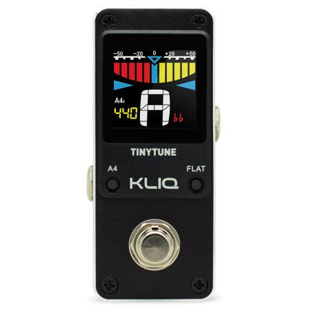 kliq tinytune mini guitar tuner pedal for electric guitar bass power supply required. Black Bedroom Furniture Sets. Home Design Ideas