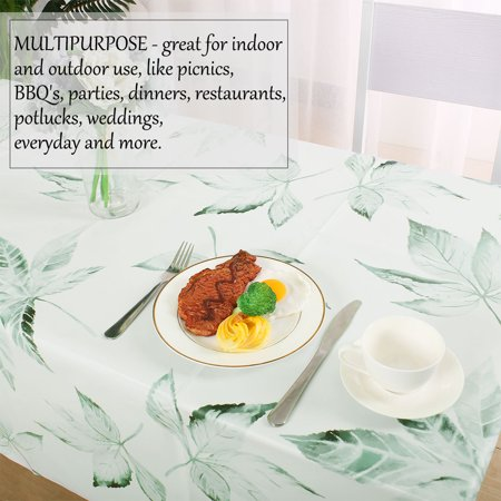 "Tablecloth PVC Oil Stain Resistant Wedding Camping Table Cloths 54"" x 55"", #3 - image 4 of 7"