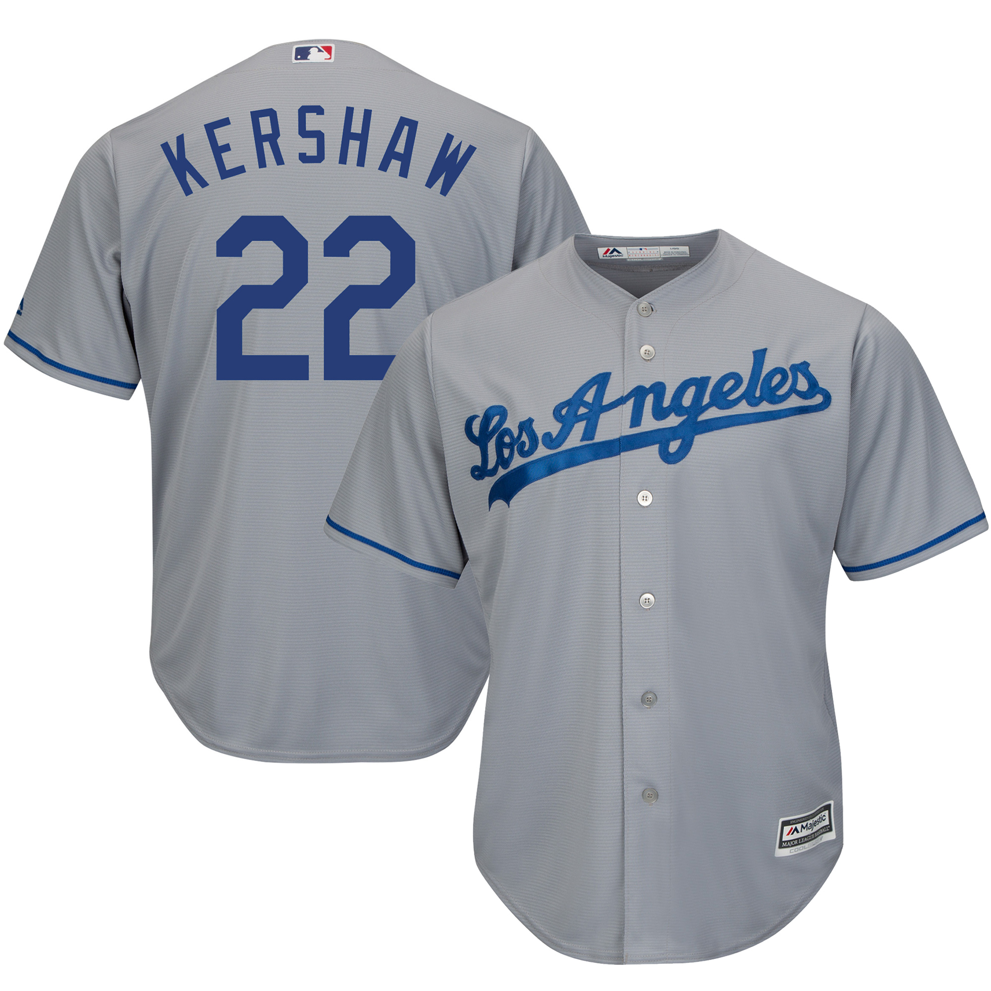Clayton Kershaw Los Angeles Dodgers Majestic Cool Base Player Jersey - Gray
