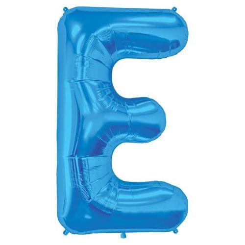 Blue Letter E 34 Inch Foil Balloon