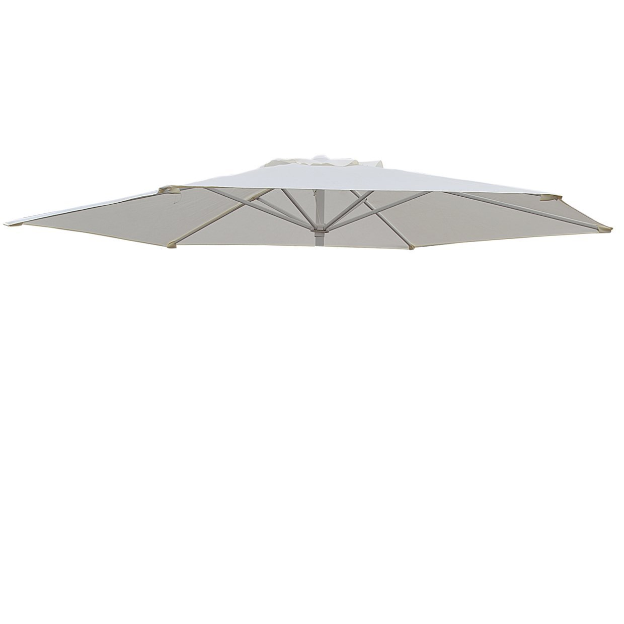 Replacement Patio Umbrella Canopy Cover For 9ft 6 Ribs Umbrella Taupe  (CANOPY ONLY)