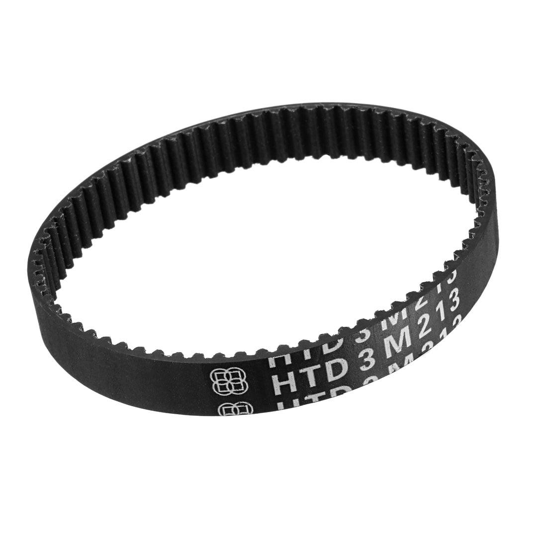 Unique Bargains HTD3M 71 Teeth Engine Timing Belt Rubber Geared-Belt 213mm Girth 10mm Width - image 2 of 2