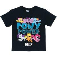 Personalized My Little Pony Pony Power Black Kids' T-Shirt