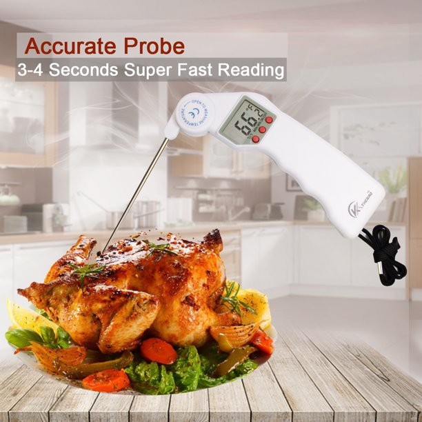 Instant Read Digital Thermometer, Super Fast Meat ...