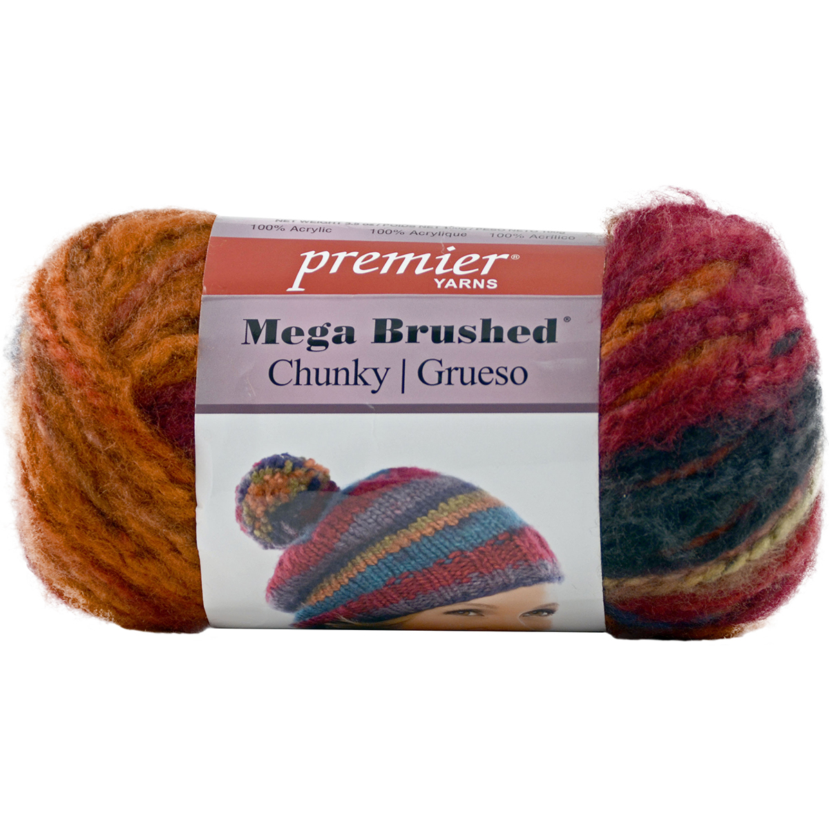 Mega Brushed Chunky Yarn, Autumn