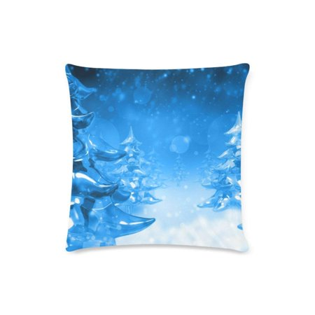 WOPOP Ice Sculpture Christmas Tree Throw Pillow Case Pillow Cover Home Sofa Decor 16x16 inches