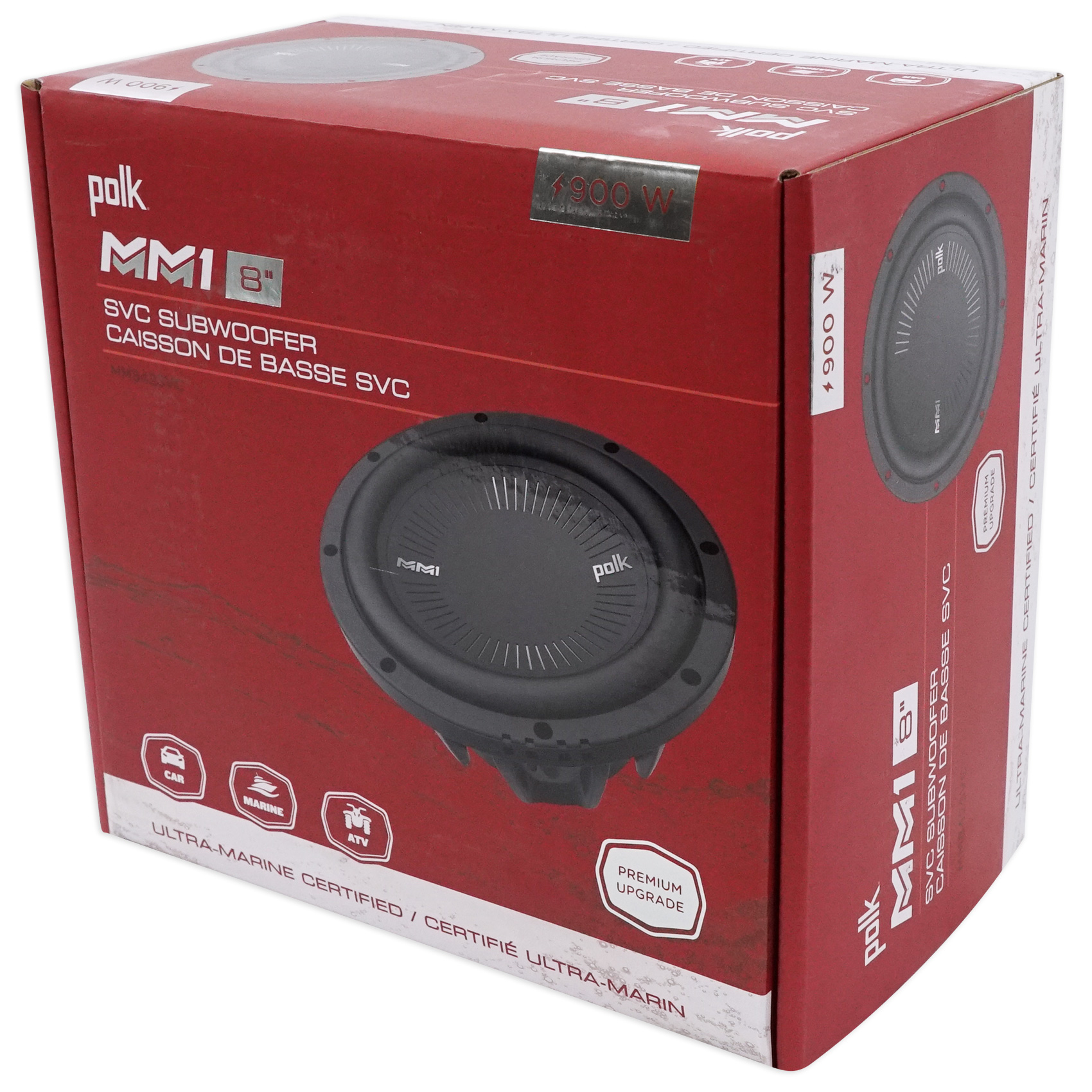 Polk Audio 8 DVC MM1-Series Subwoofer 900 W with Marine Certification