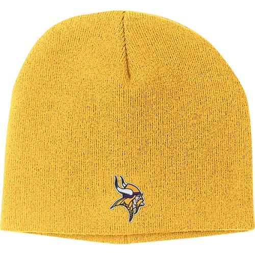 Minnesota Vikings Gold Basic Logo Cuffless Knit Hat by Reebok