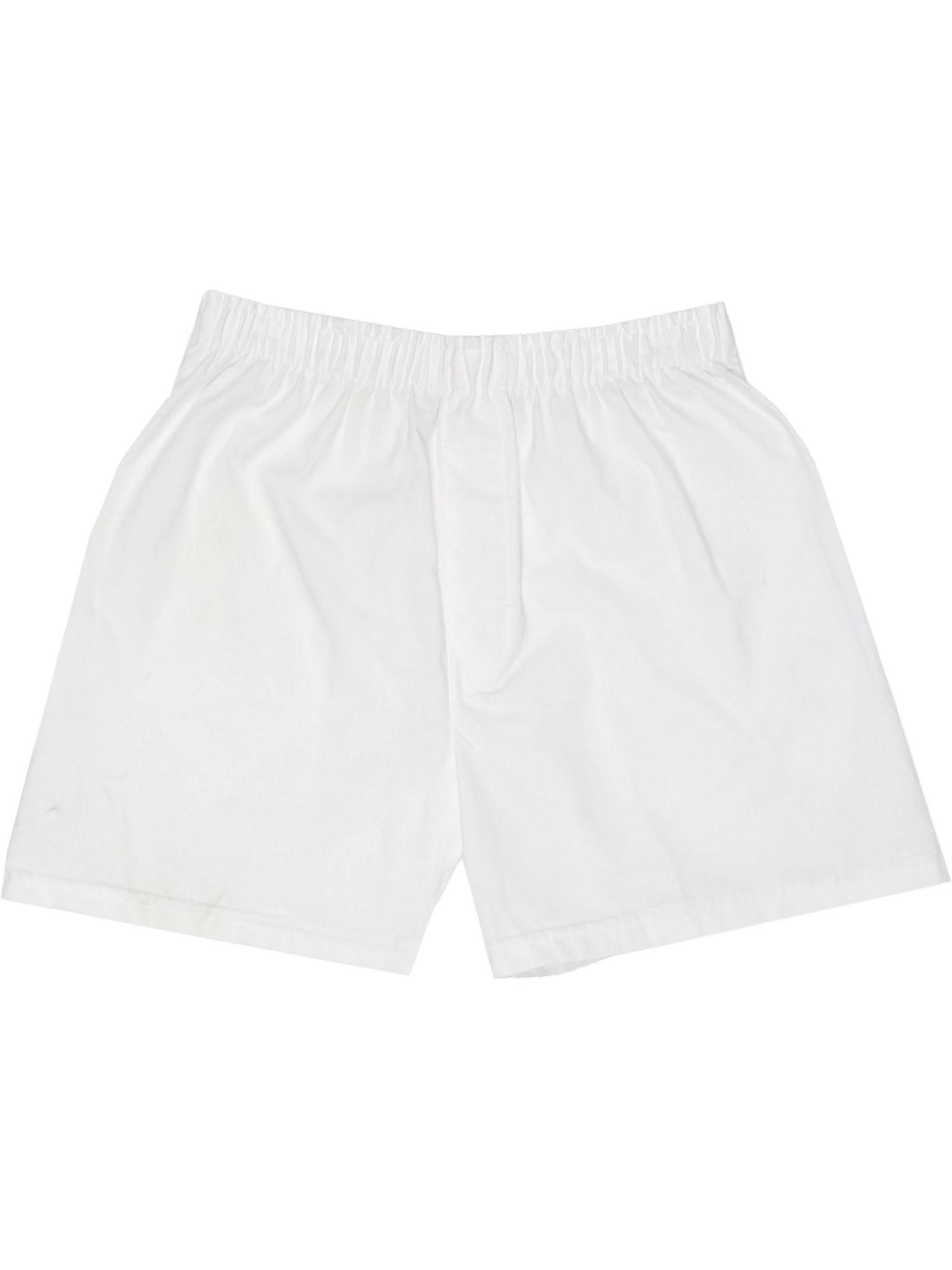 Men's Woven Cotton Boxer Sleep Shorts
