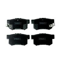 Wearever Silver Organic Brake Pads - Rear (4-Pad Set)
