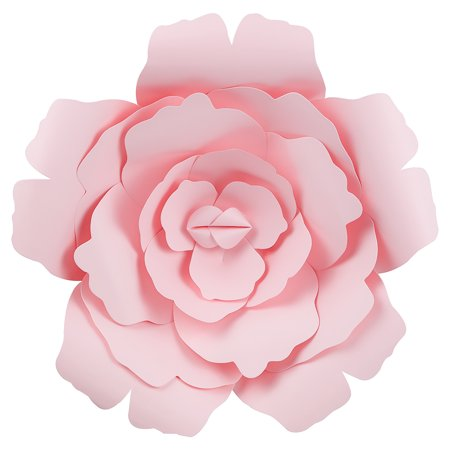 Quasimoon Large 12 Pre Made Light Pink Rose Paper Flower Wedding Backdrop Wall Decor 3d Diy Premium By Paperlanternstore
