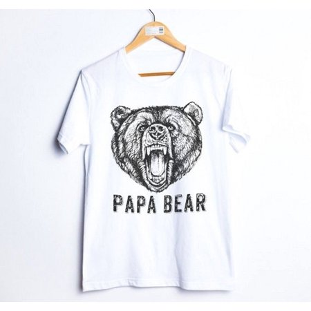 Fashion Family Clothes Family Matching Outfits T-shirt Papa Mama Kids Baby Bear Tops Tee - image 2 of 4