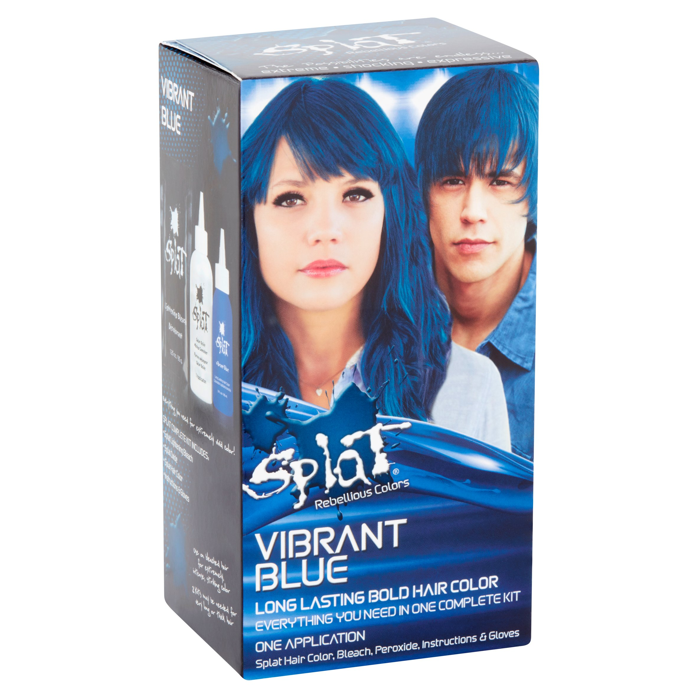 Splat Rebellious Colors Vibrant Blue Long Lasting Bold Hair Color
