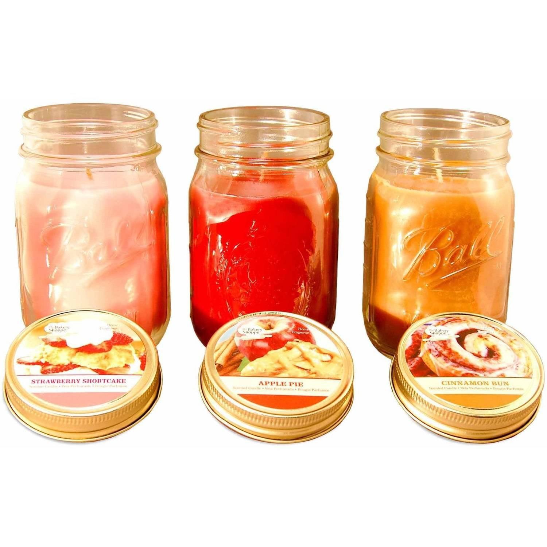 LumaBase Scented Candles, Bake Shoppe, 12 oz, Set of 3