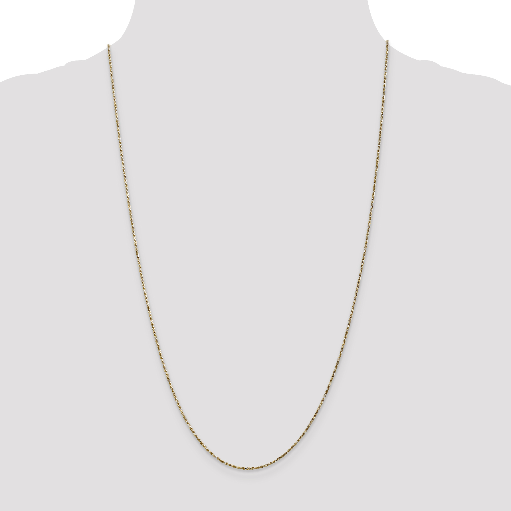 14K Yellow Gold 1.15mm Machine-Made Rope Chain 18 IN - image 1 de 5