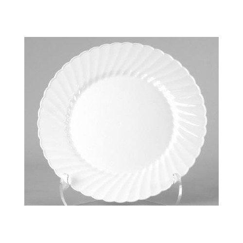 WNA Comet (180 Per Container) 9'' Classicware Plastic Plate in White