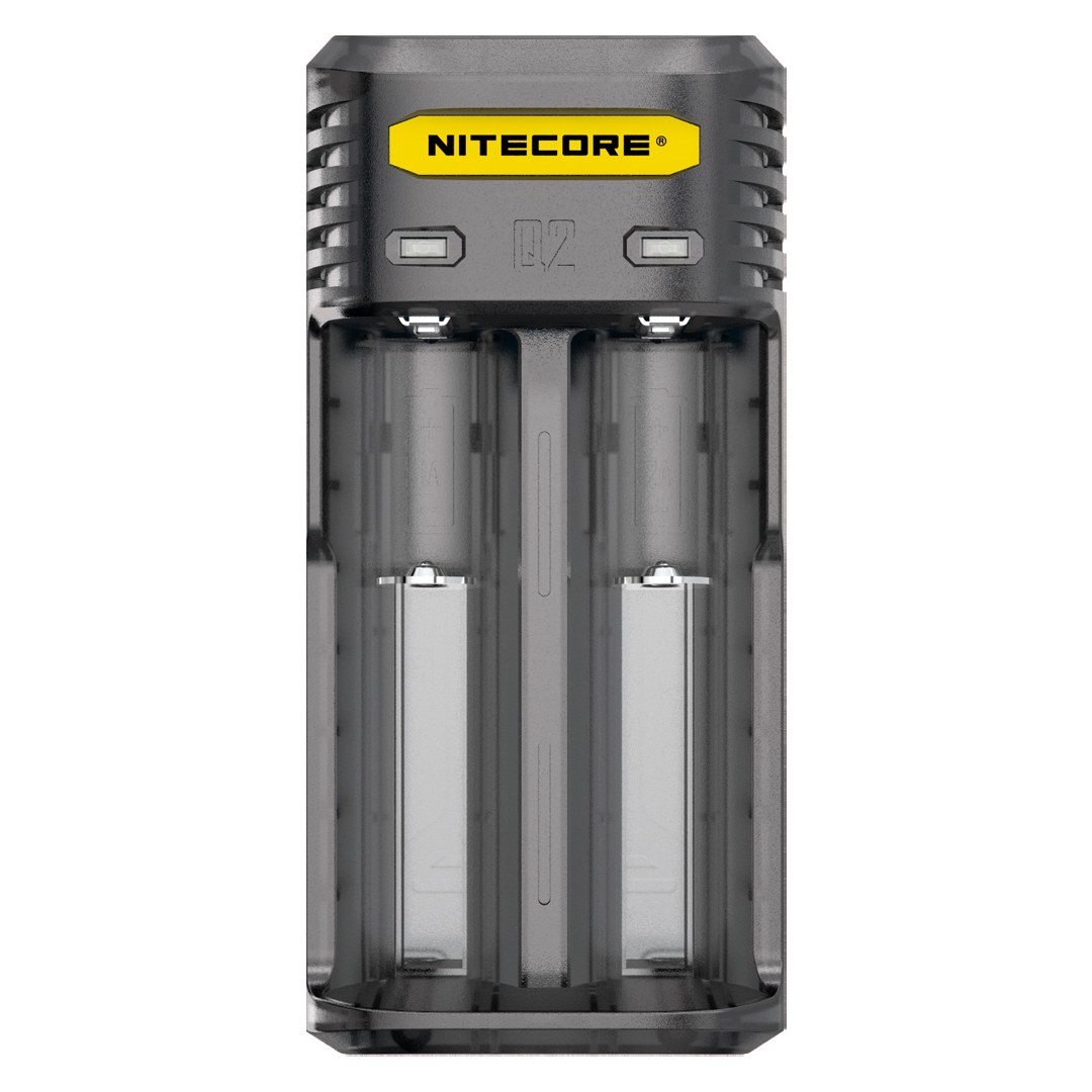 Nitecore Q2 2-Slot Universal IMR/Li-Ion Battery Charger (Blackberry)