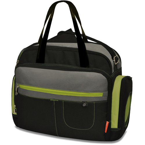 Fisher-Price Carryall Diaper Bag, Black/Gray