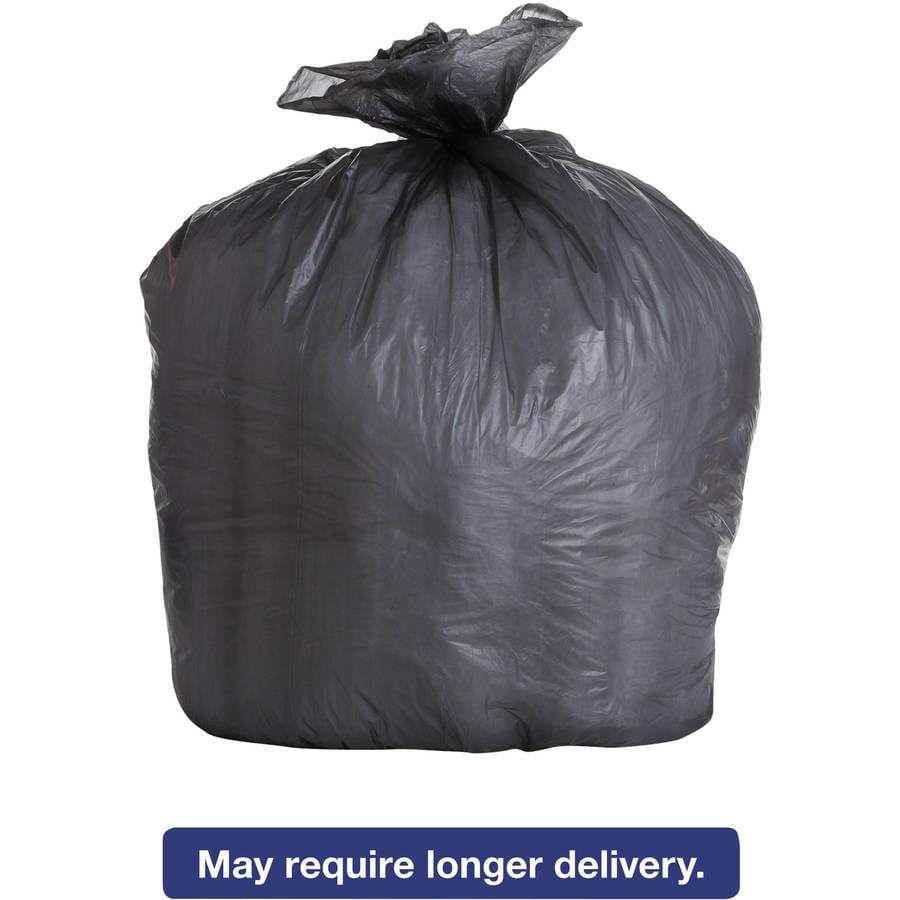 Boardwalk 56 Gallon High-Density Trash Bags, Black, 25 count, (Pack of 6)
