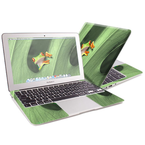 "Mightyskins Protective Skin Decal Cover for Apple MacBook Air 13"" (2010-2017 Model) with 13.3 inch screen wrap sticker skins Froggy"
