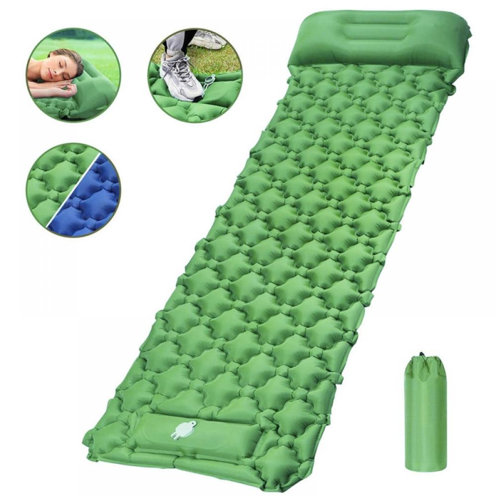 Outdoor Sleeping Pad Mat Mattress Auto Inflatable Air Bed Camping Large Compact