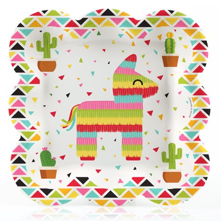 Let's Fiesta - Mexican Fiesta Dinner Plates (16 Count)