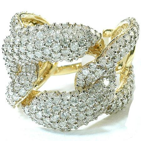 Diamond Ladies Cocktail Ring - Dazzlingrock Collection 3.42 Carat (ctw) 14k Round Diamond Ladies Cocktail Link Ring, Yellow Gold
