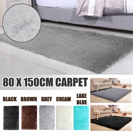 80X150x4.5cm Washable Shaggy Area Rug Comfortable Polyester Fluffy Carpets Anti-skid Floor Mat Bedroom Winter Carpets Gifts