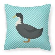 Blue Swedish Duck Blue Check Fabric Decorative Pillow BB8036PW1818