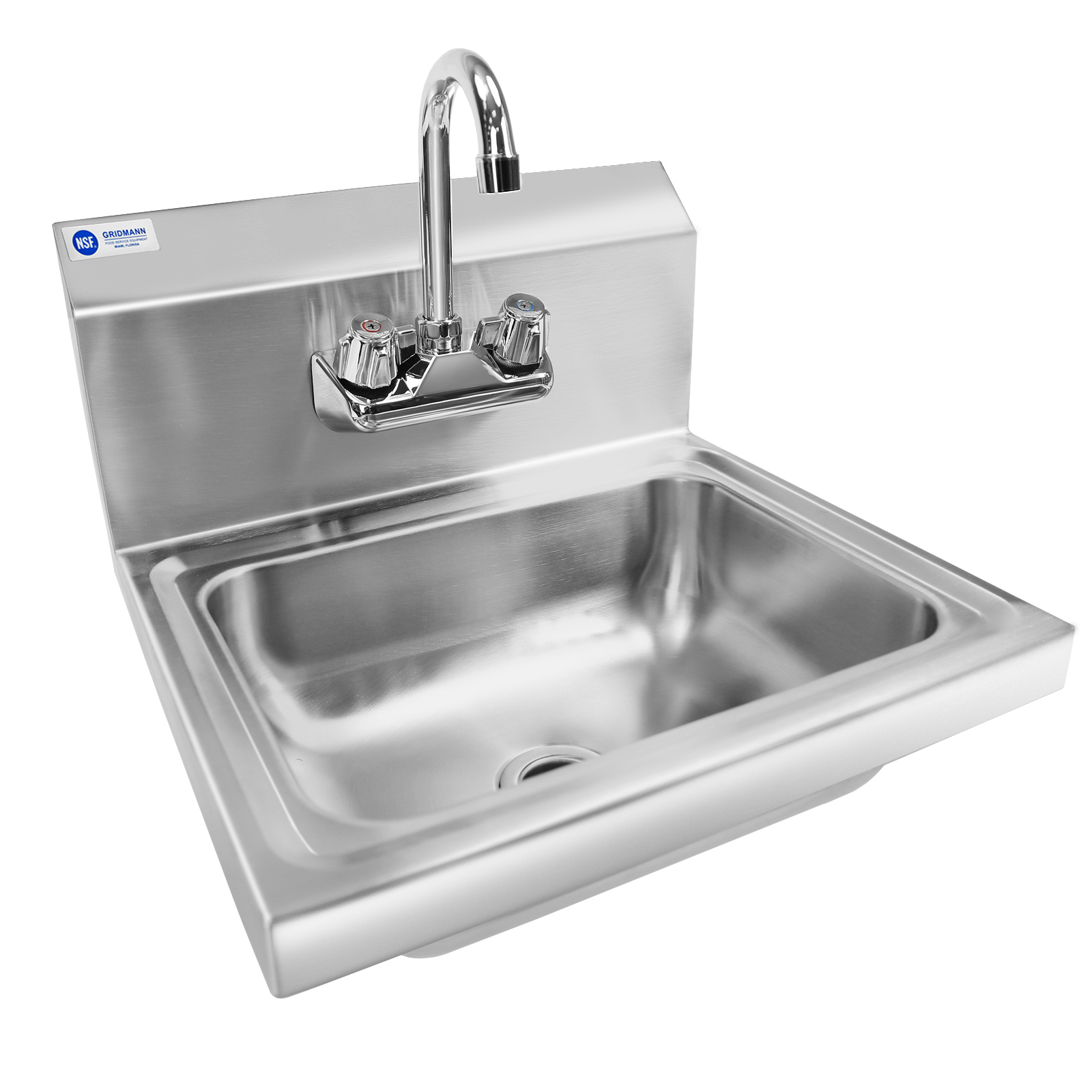 Gridmann Commercial Nsf Stainless Steel Sink Wall Mount