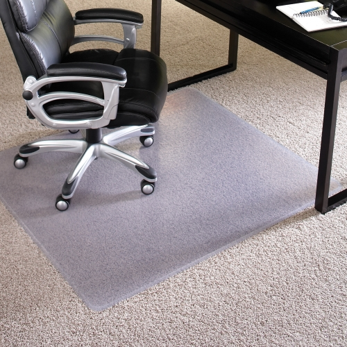"Chair Mat, Rectangle, Delux, 46""x60"", Clear ESR124377"