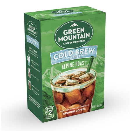 Green Mountain Coffee Alpine Roast, Cold Brew, Ground Coffee, 2