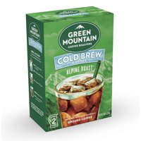 Green Mountain Coffee Alpine Roast, Cold Brew, Ground Coffee, 2 Count