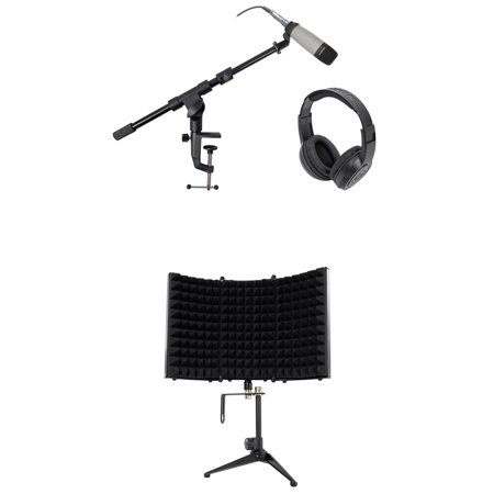 samson c01 studio condenser recording microphone mic stand headphones shield. Black Bedroom Furniture Sets. Home Design Ideas