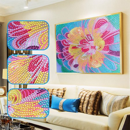 DIY 5D Diamond Painting Kits DIY Drill Diamond Painting Needlework Crystal Painting Rhinestone Cross Stitch Mosaic Paintings Arts Craft for Home Wall Decor Gift 25*30cm - image 2 de 7