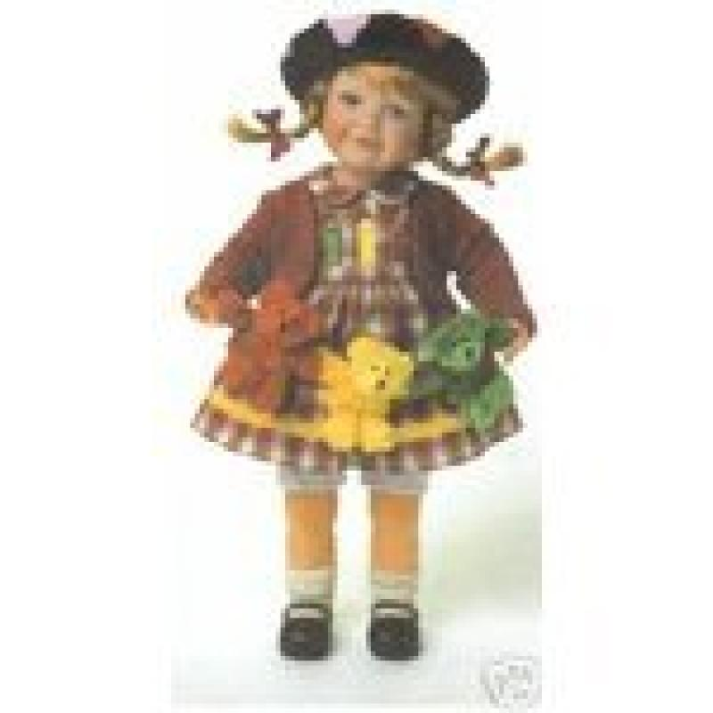 Boyds Bears Resin NICKI W/ SQUIRT, DAB & SCRIBBLE Doll Artist Paint 4718
