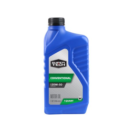 (3 Pack) Super Tech SAE 20W-50 Conventional Motor Oil 1 qt.
