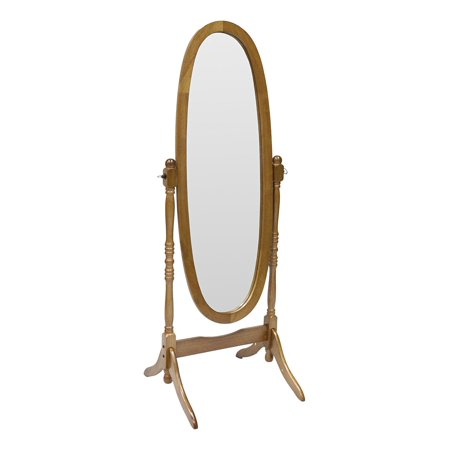 Cheval Mirror  Oak  Oak Cheval Mirror By Crown Mark