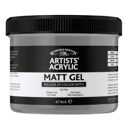 Winsor & Newton Artists Acrylic Matte Gel Mediums Jar