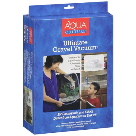 Aqua culture ultimate 25 39 aquarium gravel vacuum clean for Walmart fish gravel
