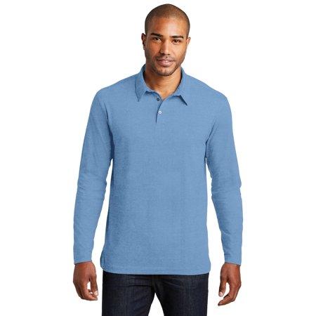 Port Authority® Long Sleeve Meridian Cotton Blend Polo. K577ls Blue Skies Xs - image 1 de 1
