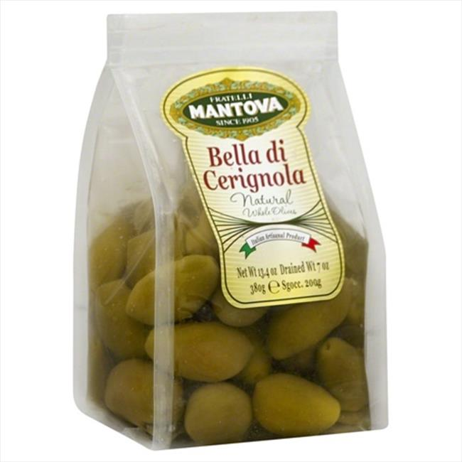 MANTOVA OLIVE BELLA DI CERIGNOLA-7 OZ -Pack of 6
