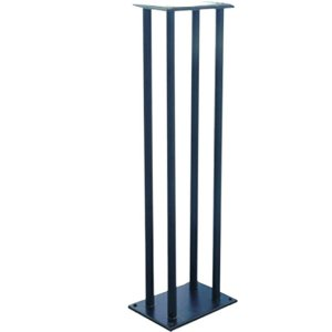 "PylePro PSTND14 Speaker Stand – 75 lb Load Capacity – 38"" Height x 11.3"" Width x 8.3"" Depth – Steel – Black BOOKSHELF / MONITOR SPEAKER STAND"