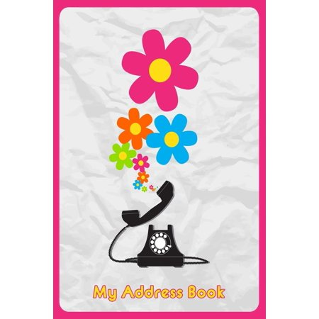 My Address Book: Illustration of Telephone and Butterflies, 6 X 9, 111 Pages (Us Address Book)