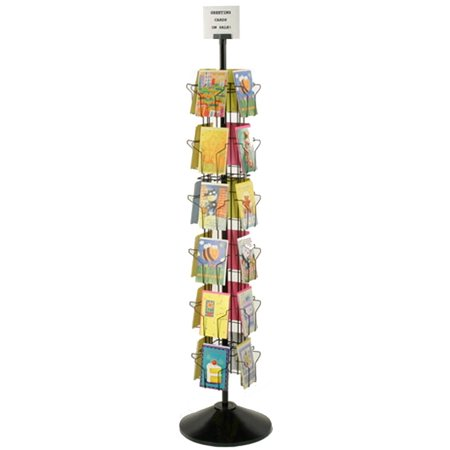 Displays2go Greeting Card Display Rack with (24) 5 x 7 Pockets, 66