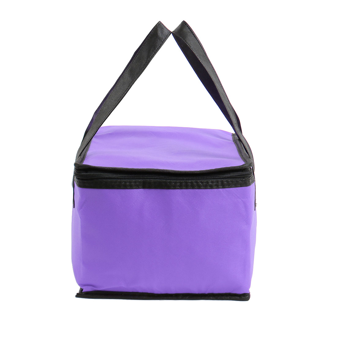 Unique Bargains Zipper Insulated Thermal Cooler Picnic Lunch Box Bag Carry Tote Storage W Strap Purple