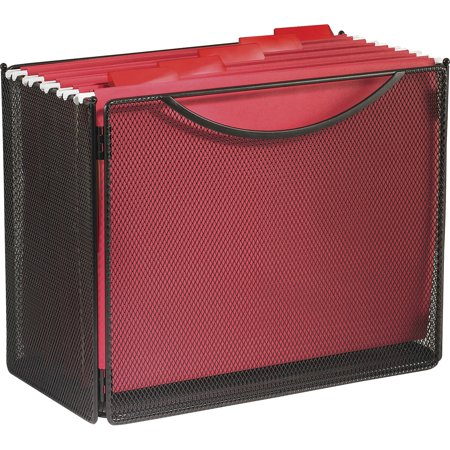 Safco, SAF2169BL, Onyx Steel Mesh Desktop File Box, 1 Each, Black