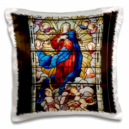3dRose St. Joseph Catholic Church, Macon, Georgia - US11 AJE0024 - Adam Jones, Pillow Case, 16 by 16-inch