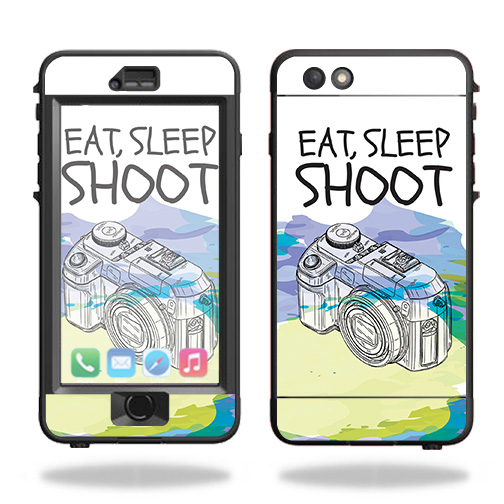 Skin For Lifeproof Nuud iPhone 6s Plus Case – Eat Sleep Shoot | MightySkins Protective, Durable, and Unique Vinyl Decal wrap cover | Easy To Apply, Remove, and Change Styles | Made in the USA
